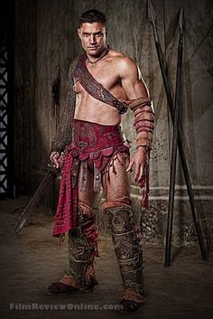 Manu Bennett as Crixus in Spartacus:  Blood and Sand