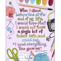 When I stand before God...