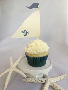 Sailboat Cupcake Toppers Custom Cupcake Toppers Nautical