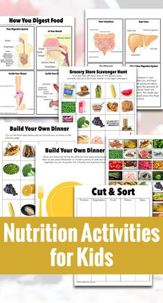 Nutrition Activities for Kids - Natural Beach Living - Nutrition Plans 🍪 Nutrition Plans, Kids Nutrition, Diet And Nutrition, Health And Nutrition, Nutrition Guide, Nutrition Products, Sports Nutrition, Banana Nutrition, Universal Nutrition
