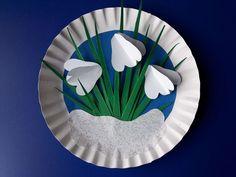 Przebiśniegi zpapieru - wiosenny obrazek Diy Paper, Paper Crafts, Diy And Crafts, Arts And Crafts, Origami, Flower Coloring Pages, Spring Crafts, Winter, Techno