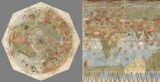 In 1587, Urbano Monte (1544-1613) a little-known cartographer created an amazing, hand-drawn, 10 feet by 10 feet map. Not only does the map depict the Earth as seen from space, when directly looking down at the North Pole, but it's also filled with incredible images of foreign locations and astonishing mythological creatures such as for example Siberian unicorns, ship-attacking mermen and terrifying giant birds.