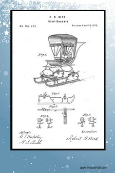 "Robert B. Bird's Sled-Runners. U.S. Patent No. 162,266, patented April 20, 1875. | ""Snow Tires"" For 19th Century Wagons: Sled Runners 