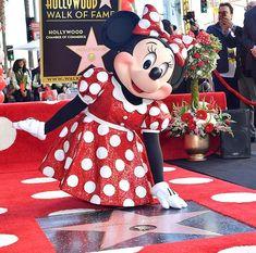 Minnie Mouse getting her star on the Hollywood Walk of Fame. Disney Dream, Disney Love, Disney Magic, Disney Art, Disney Stuff, Orlando Disneyworld, Disneyland Park, Walt Disney Characters, Disney Souvenirs