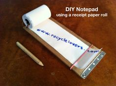DIY Notepad using a receipt paper roll : with a cutter