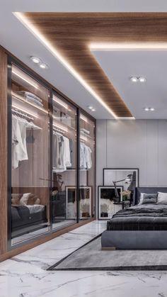Home Interior Design, Interior Architecture, Master Bedroom Design, Minimalist Bedroom, Cozy Bedroom, Bedroom Furniture, Ceiling Lights, House, Home Decor