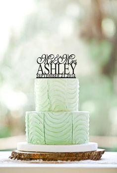 DISCOUNT!!!  Wedding Cake Topper Mr Love Mrs, Wedding date... by LOVECAKETOPPER on Etsy