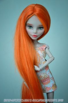 Monster High Doll - OOAK repaint Ghoulia Yelps by AnnaShrem