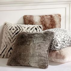 Faux Fur Pillow Cover #pbteen | For Jenny's Bedroom to Match