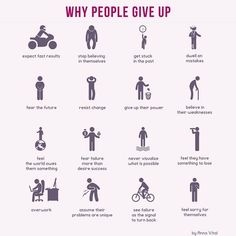 Don't do these, don't give up!