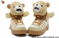 Latest Listing Cheap Adidas X Jeremy Scott Teddy Bear Shoes Brown Sports Shoes Store
