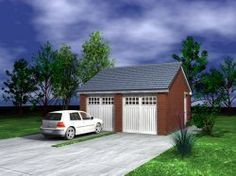 Garage Plans : SelfBuildPlans.co.uk - UK House Plans - Building ... House Plans Uk, Garage House Plans, Single Garage Door, Double Garage, Custom Home Designs, Custom Homes, Brick Cottage, Floor Layout, Floor Plans