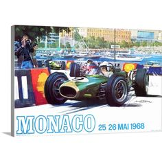 """GreatBigCanvas """"""""Monaco 1968 Vintage Advertising Poster""""""""by ArteHouse Canvas Wall Art, Multi-Color Posters Vintage, Retro Poster, Vintage Advertising Posters, 1960s Advertising, Michael Turner, Belgium Grand Prix, Singapore Grand Prix, Australian Grand Prix, Fast And Furious"""