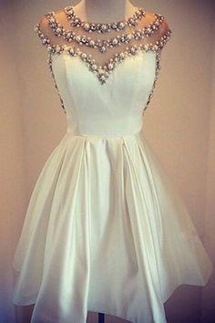 A Line Prom Dress,Chfifon Prom Dress,Beading Homecoming Dress,Short Party…