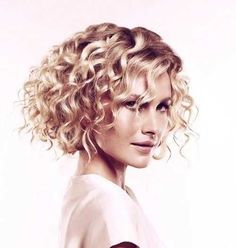 Blonde Short Curly Bob Thick Style