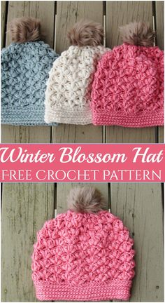 Fabulous And Cozier Crochet Hat Patterns To Try This Winter Season Fabulous And Cozier Crochet Hat Patterns To Try This Winter Season,Mützen und Hüte Winter Blossom Crochet Hat Patterns beanie pattern beanie pattern free clothes hats free pattern projects Crochet Adult Hat, Crochet Beanie Pattern, Crochet Kids Hats, Crochet Cap, Crochet Scarves, Crochet Crafts, Kids Crochet Hats Free Pattern, Baby Beanie Crochet Pattern, Crochet Toddler Hat