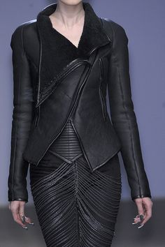 Gareth Pugh :: Fall 2010  Drop-dead-gorgeous...look at the texture of the leather. This will never be out of style.