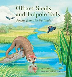 Otters, Snails and Tadpole Tails: Poems from the Wetlands, by Eric Ode, illustrated by Ruth Harper (Kane Miller, Amphibians, Mammals, Similes And Metaphors, Award Winning Books, Poetry Collection, Student Reading, Science And Nature, Otters, Cuddling