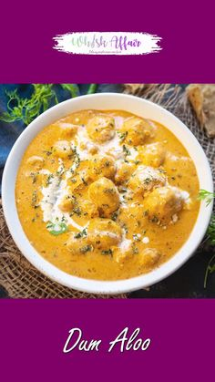 Restaurant Style Dum Aloo is a delicious creamy gravy where fried potatoes are dunked in a rich onion tomato based curry. This shahi recipe is easy to make at home and use basic ingredients. Sambhar Recipe, Chaat Recipe, Shahi Paneer Recipe, Indian Veg Recipes, Indian Dessert Recipes, Punjabi Recipes, Pakora Recipes, Paneer Recipes, Spicy Recipes