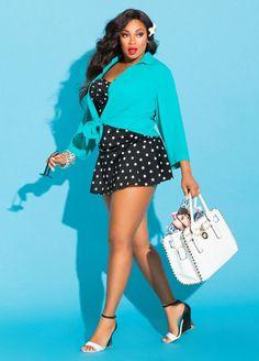 Liris Crosse modeling for plus size retailer Ashley Stewart