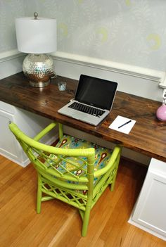 DIY Office Desk-I like this look and the open space much better than a traditional desk