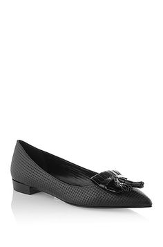 Hugo Boss Leather ballerinas 'Lika' with tassels, Black