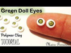 Miniature Polymer Clay Green Doll Eye Cane Tutorial | Maive Ferrando - YouTube