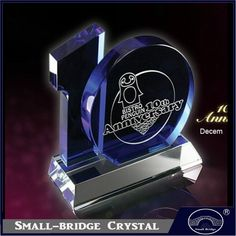 Supply 5th 15th 20th 10th Anniversary Gifts Corporate Gift Crystal Trophy