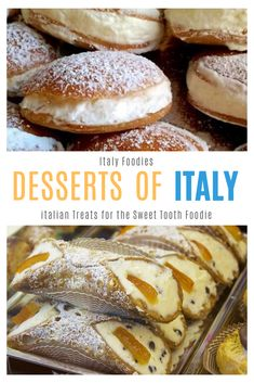 Italians love their dessert but in Italy, a little sweet treat goes a long way. This list of traditional italian desserts from north to south are some of the best desserts in Italy, perfect for the sweet tooth Italy foodie! Italian Pastries, Italian Dishes, Italian Snacks, Italian Foods, Italian Pasta, Fun Desserts, Dessert Recipes, Health Desserts, Italian Cookies