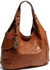 Leather Fossil purse - I love you...