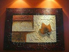 Cuadro Mural Painting, Mural Art, Texture Painting, Texture Art, Diy Canvas Art, Abstract Canvas, Canvas Artwork, Modern Art Paintings, Leaf Art