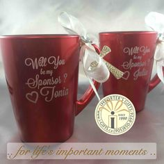 Will you be my sponsor mugs - custom engraved for twin girls asking their confirmation  sponsors to guide them and o be their mentors in the catholic faith - confirmation confirmandi religious catholic engraved mugs