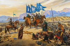 The Battle of Manzikert - painting inside the Istanbul Military Museum