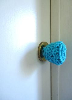 3 Crochet door knob covers, child safety covers by KeishasKreativity, $9.00