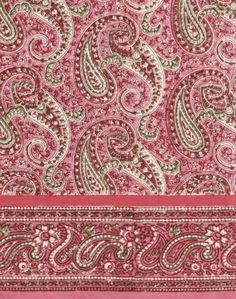 My fave at the moment- wearing it now!  Anokhi USA: Pink Paisley cotton scarf
