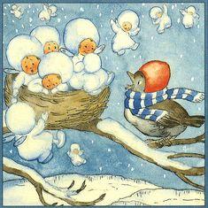 Invierno - Ilustración Ida Bohatta