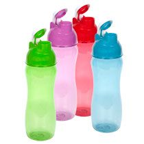 Translucent Plastic Water Bottles with Flip-Top Lids, 20 oz. at Deals