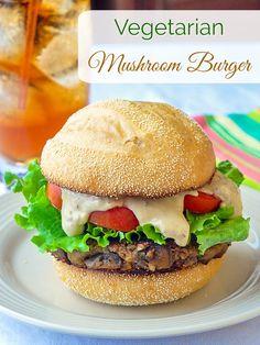 Vegetarian Mushroom Burger - a recipe for everyone!