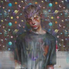 Psychedelic and haunting paintings of disaffected teenage boys on drugs | Creative Boom