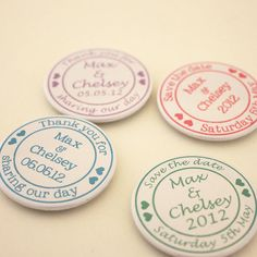 Personalised Wedding Magnets