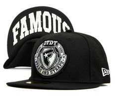 Famous Stars Straps Snapback Hats Black 7465