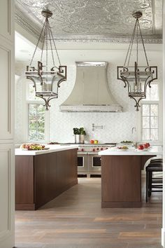 Be inspired by Transitional Elegance, a Sub-Zero, Wolf, and Cove Transitional Kitchen Design Contest Winner. Dark Wood Kitchen Cabinets, Dark Wood Kitchens, Elegant Home Decor, Elegant Homes, Custom Kitchens, Home Kitchens, Home Decor Sites, Kitchen Gallery, Transitional Kitchen