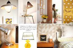 Una casa con inspiración retro  Lámparas: los aplausos se lo slleva una de pie…