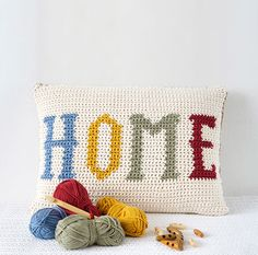 Home Cushion Crochet Pattern by Little Doolally