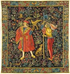 The Falconer Tapestry Medieval Tapestries This is one panel from a seven part series representing seigniorial life in the middle ages. The Medieval Falconer Tapestry is from an era of romance and myth