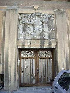 Beautiful Art Deco entrance Novi Sad, Serbia 1930s