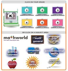 e-Learning For Kids is a great site with some wonderful interactive learning games that are engaging and fun. Students click on their grade and then a list of games divided into subjects comes up.