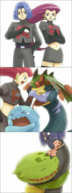 Team Rocket and their Pokemon. Poor Pokemon that don't have james. <<< Jessie uses tough love Pokemon Go, James Pokemon, Pokemon Team Rocket, Pokemon Comics, Pokemon Funny, Pokemon Fusion, Pokemon Cards, Pokemon Jessie And James, Jessie James