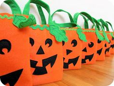 homemade by jill: simple felt trick-or-treat bags