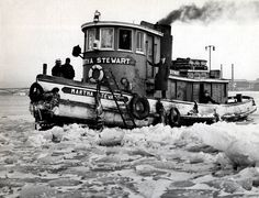 "The tugboat Martha Stewart on the Niagara River, ca. 1940. Who this ""Martha"" was is unknown."